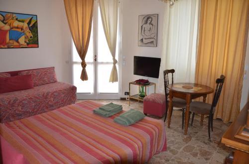 TV o dispositivi per l'intrattenimento presso Bellavista Romeo Apartments