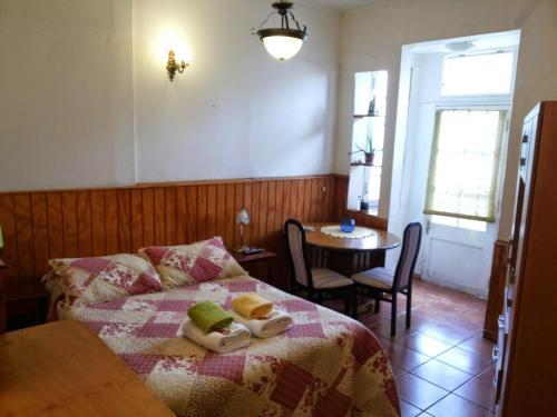Cama o camas de una habitación en Comarca Valparaíso