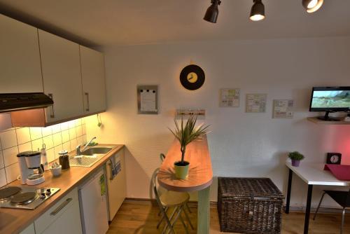 Cuisine ou kitchenette dans l'établissement Quai De Rome