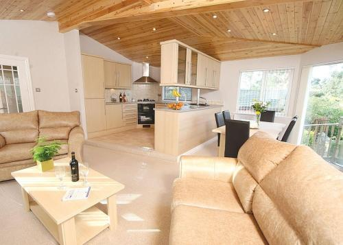 A seating area at Pound Farm Lodges