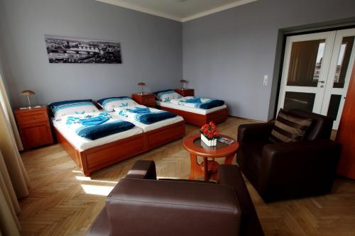 Ein Bett oder Betten in einem Zimmer der Unterkunft Apartmán Kaiser