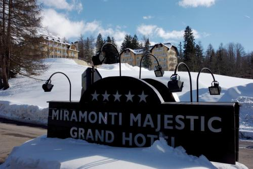Miramonti Majestic Grand Hotel during the winter