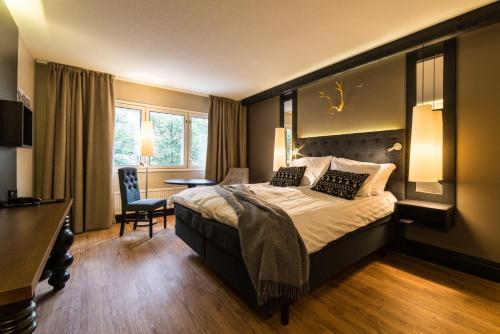 Vuode tai vuoteita majoituspaikassa Lapland Hotels Tampere