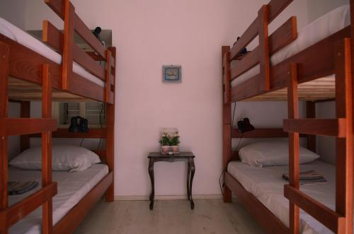 A bunk bed or bunk beds in a room at Freedom Hostel Budva