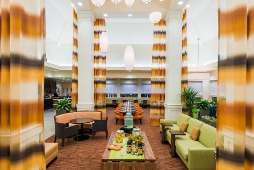 The lobby or reception area at Hilton Garden Inn Wayne