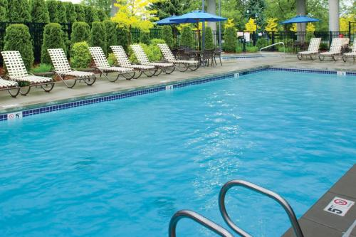 The swimming pool at or near DoubleTree by Hilton Spokane City Center