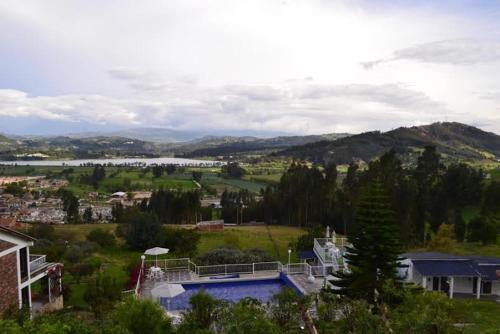 A bird's-eye view of Miravalle Suites