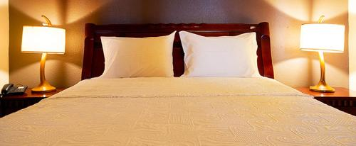 A bed or beds in a room at Hotel Ancar