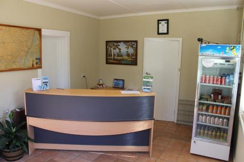 The lobby or reception area at Mountain View Motel