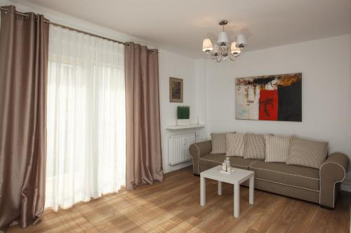 A seating area at Apartamenty Białystok - Lipowa 47