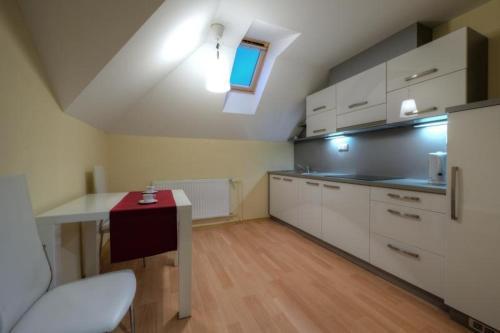 Kuchyň nebo kuchyňský kout v ubytování Vila Jiřinka