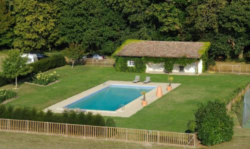 A view of the pool at Château De La Bourdaisière or nearby