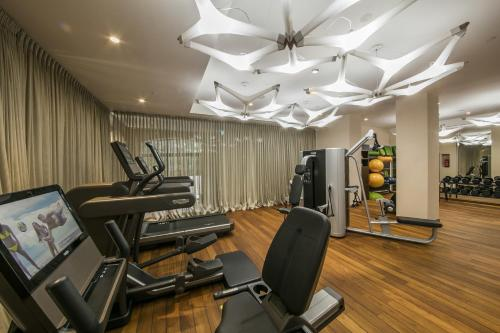 The fitness centre and/or fitness facilities at Boutique Hotel Alhambra