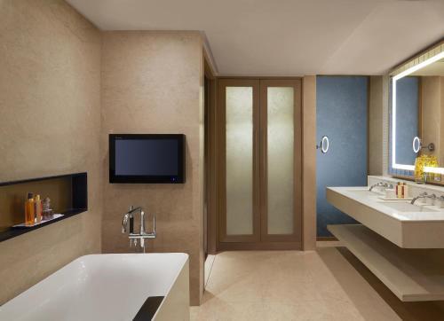 A bathroom at Taj Santacruz