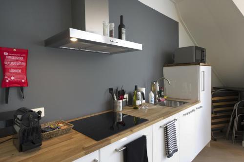 Een keuken of kitchenette bij Suite aan de A