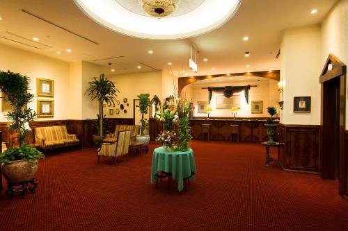 The lobby or reception area at Dukes Hotel Hakata