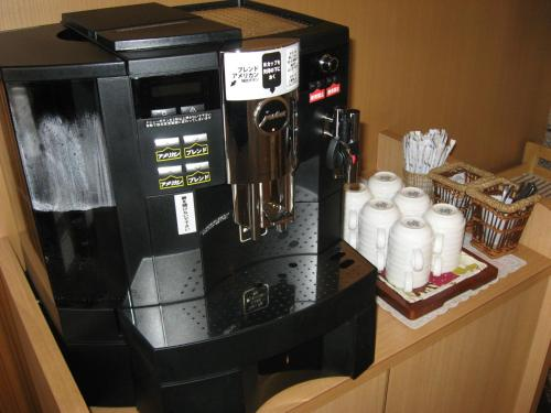 Coffee and tea-making facilities at Hotel Route-Inn Hamanako