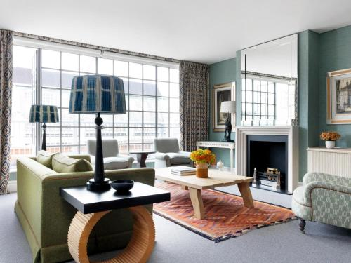 A seating area at The Soho Hotel, Firmdale Hotels