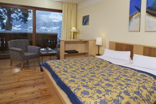 سرير أو أسرّة في غرفة في سيفيلا فرايبرغ