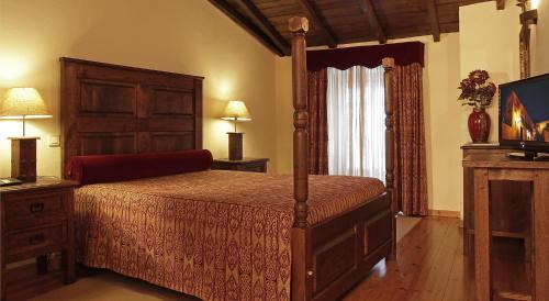 Cama o camas de una habitación en Hotel Real d Obidos