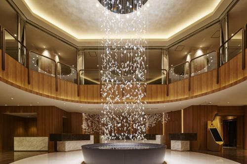 The lobby or reception area at Hotel Nikko Tachikawa Tokyo