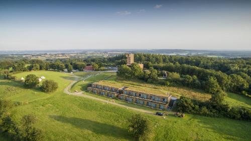 Blick auf Panorama Hotel Aschberg aus der Vogelperspektive
