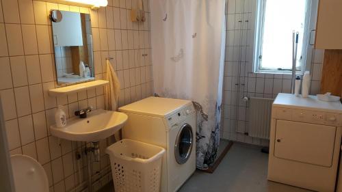 A bathroom at Vandrehuset 2 og 3