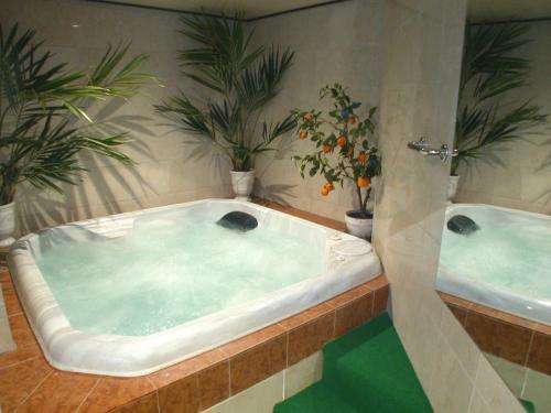 A bathroom at Hotel Le Festival