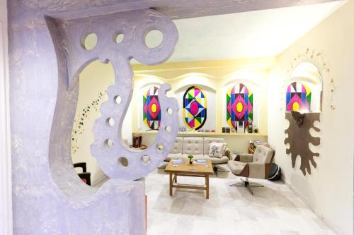 Гостиная зона в Nomads Meteora