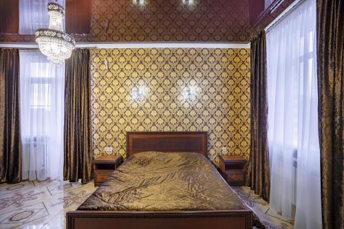 Кровать или кровати в номере Отель Дива