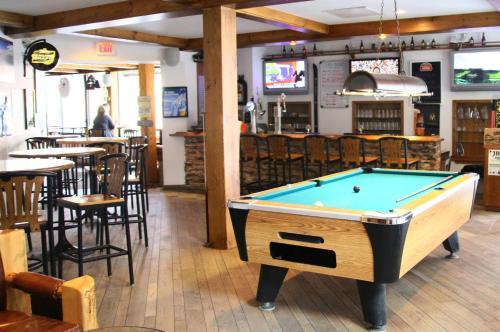 A pool table at Whistler's Inn