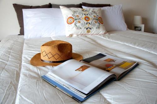 Letto o letti in una camera di Villa Anna