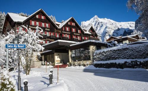 Romantik Hotel Schweizerhof during the winter