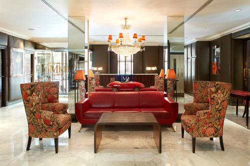 The lobby or reception area at The Mandeville Hotel