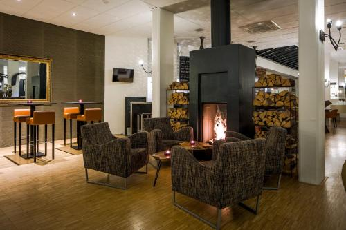 The lounge or bar area at City Hotel Groningen