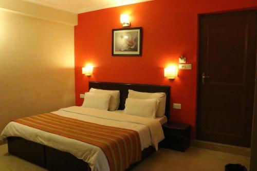 Cama o camas de una habitación en Green Hotel