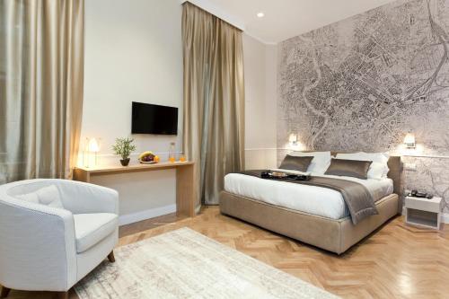 Cama ou camas em um quarto em Vanity Hotel Navona