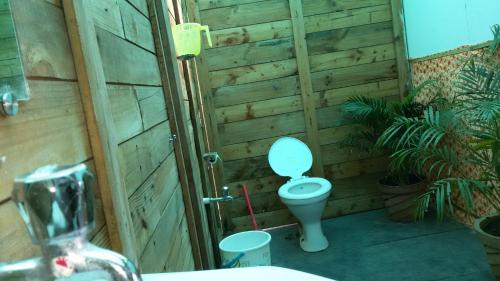 A bathroom at Saxony Huts
