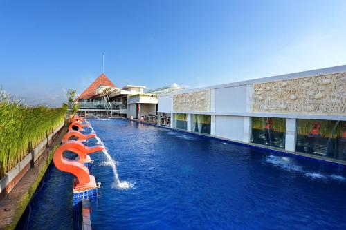 The swimming pool at or close to Mega Boutique Hotel