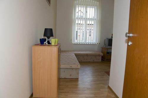 Ein Sitzbereich in der Unterkunft Hyde Park Hostel