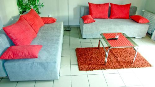 A seating area at Zielony Domek
