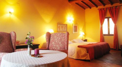 Cama o camas de una habitación en Casa Rural Las Fuentes de Ágata