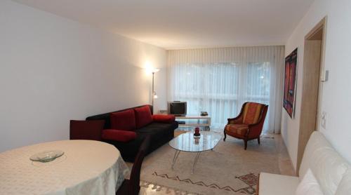 Ein Sitzbereich in der Unterkunft Residenz Larix Apartments