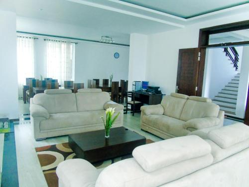 A seating area at Villa Cassandra