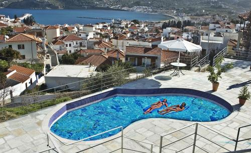 A view of the pool at Thea Home Hotel or nearby