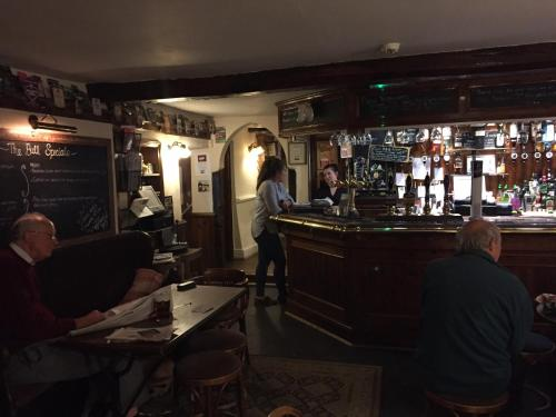 The lounge or bar area at The Bull Inn West Tanfield