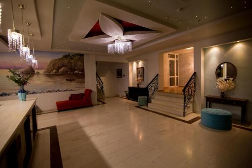 The lobby or reception area at Aphrodite Hotel