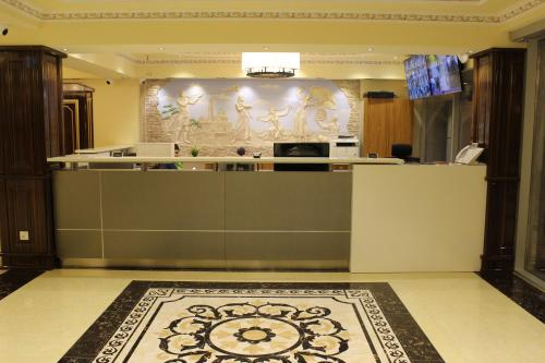 The lobby or reception area at Hotel Atlas