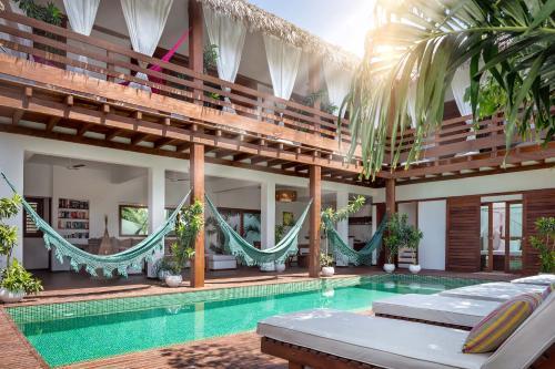 A piscina localizada em Villa Métisse ou nos arredores