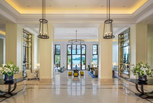 The lobby or reception area at The St. Regis Langkawi